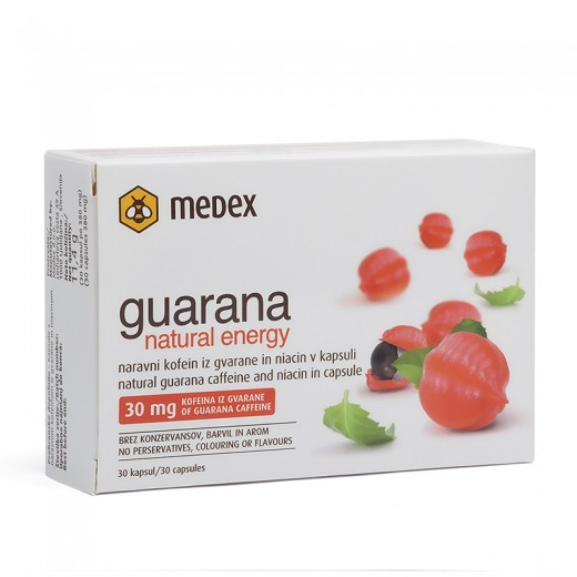 Medex, guarana natural energy, 30 kapsul