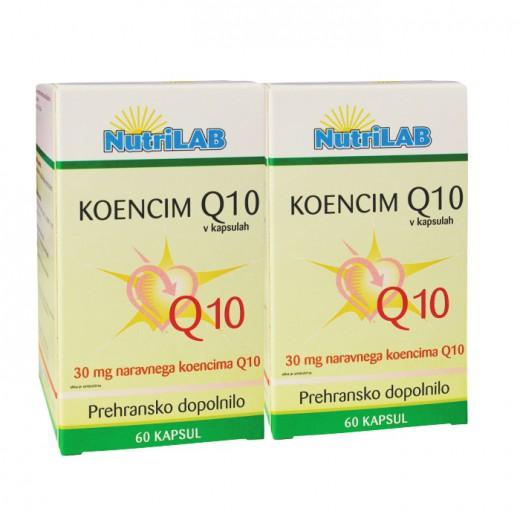 Nutrilab, komplet koencim Q10, 60 kapsul, 1 + 1 gratis