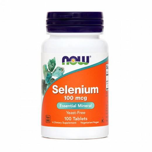 Now, selen, 100 mcg, 100 tablet