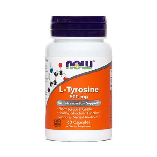 Now, L - tirozin, 500 mg, 60 kapsul