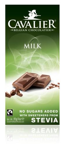 Cavalier mlečna čokolada s stevio, 85 g