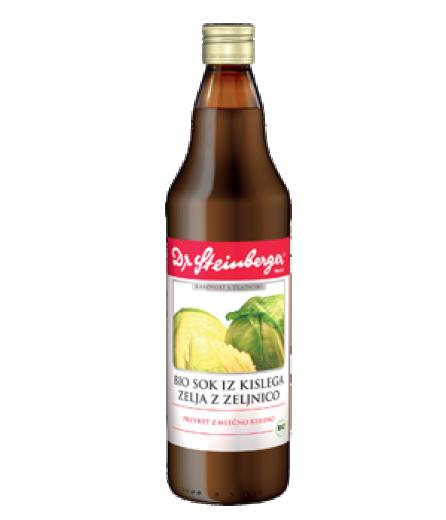 Bio sok iz kislega zelja z zelnico Dr. Steinberger, 750 ml