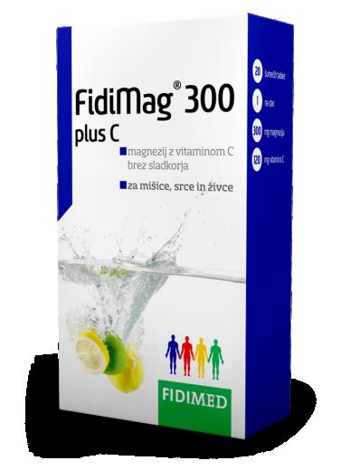 Fidimed, FidiMag 300, 20 šumečih tablet