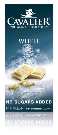 Cavalier bela čokolada s stevio, 85 g
