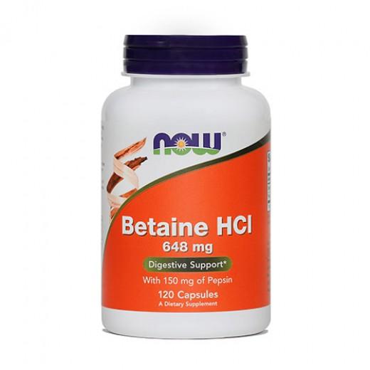 Now, betain HCI, 648 mg, 120 kapsul