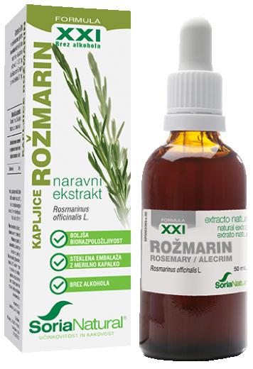 Soria Natural, rožmarin XXI kapljice brez alkohola, 50 ml