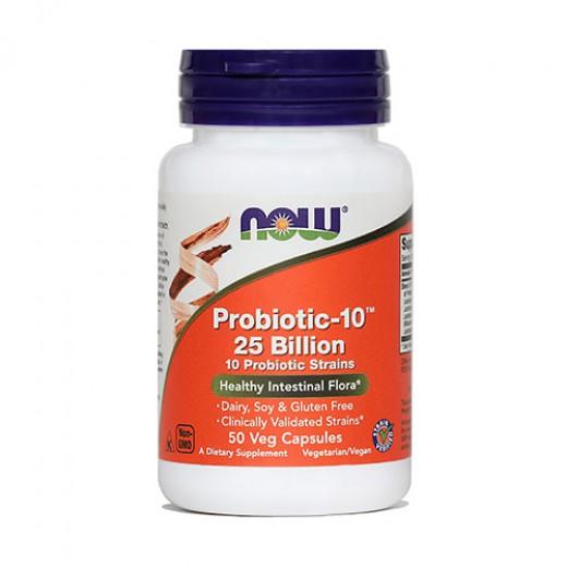 Now, probiotic - 10™, 50 kapsul