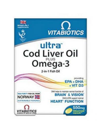 Vitabiotics, ultra Cod Liver Oil, 60 kapsul