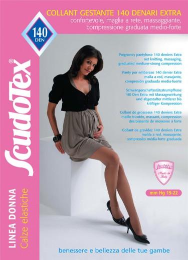 Scudotex kompresijske hlačne nogavice za nosečnice 140 DEN