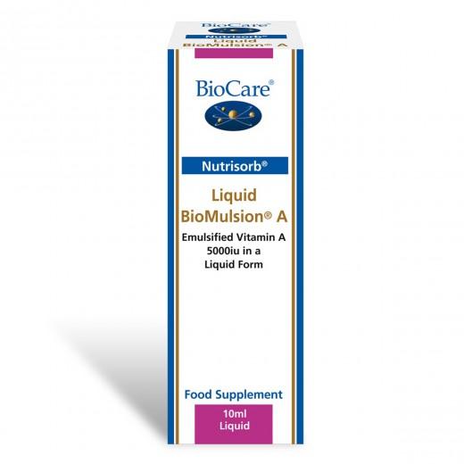 BioCare, BioMulsion vitamin A v tekočini, 10 ml