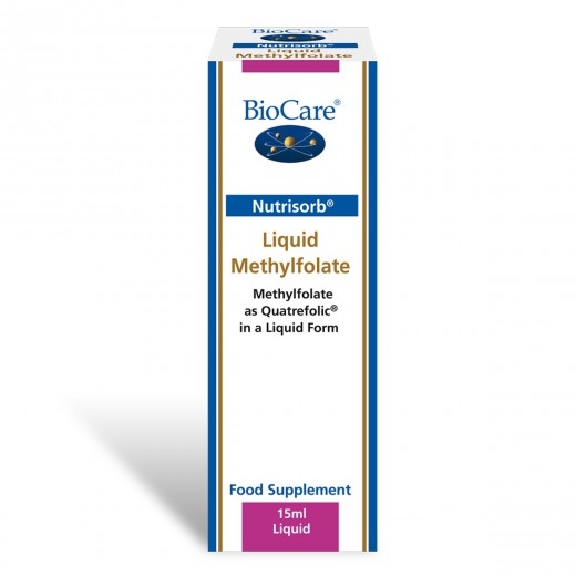 BioCare, tekoči metil folat Nutrisorb, 15 ml