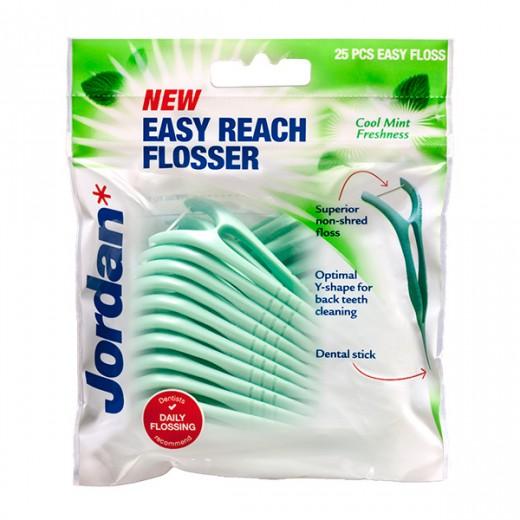 Jordan Easy Reach Flosser nitka na držalu, 25 kom