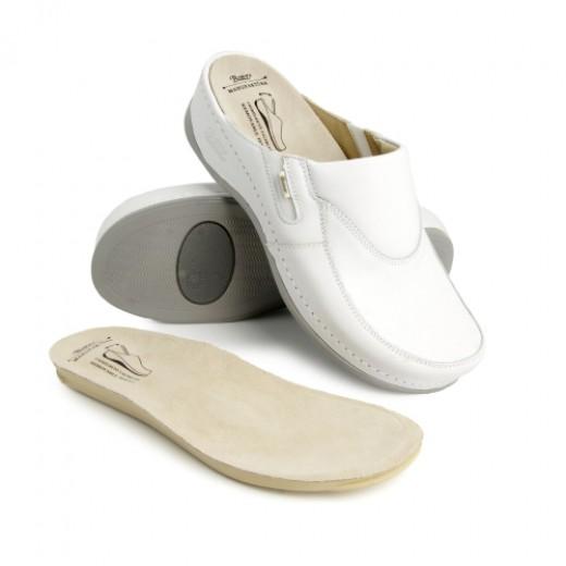 Anantomska obutev - Ženski natikači FC10 z zamenljivim vložkom beli ali temno modri