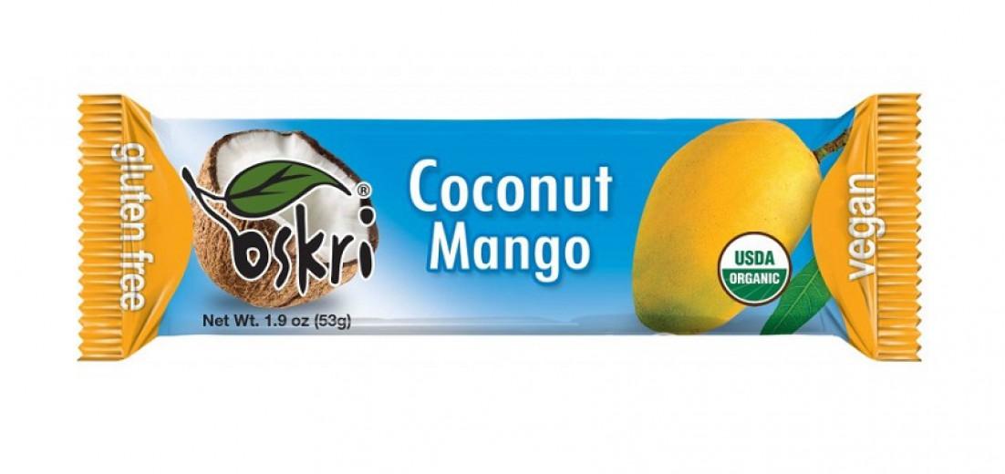 Kokosova rezina mango Oskri, 53 g