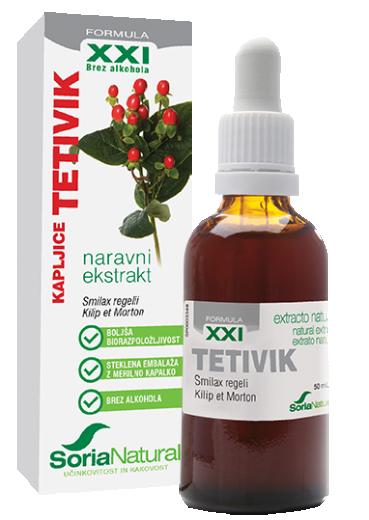 Soria Natural, tetivik XXI kapljice brez alkohola, 50 ml