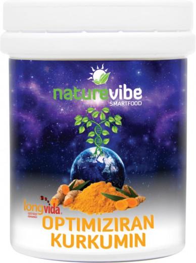 NatureVibe, LongVida - optimiziran kurkumin prah, 25 g