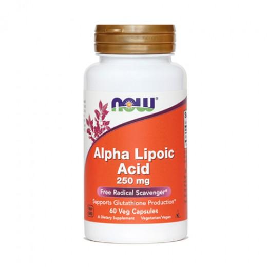 Now, alfa lipoična kislina, 250 mg, 60 kapsul
