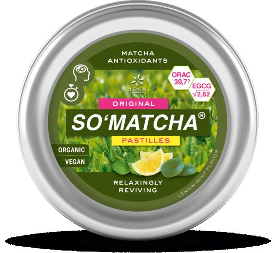 BIO pastile So'Matcha, 40 g