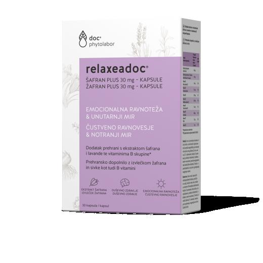 Relaxeadoc, žafran plus, 30 mg, 30 kapsul