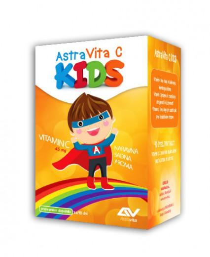 AstraVita, AstraVita C Kids s sladilom, 90 tablet