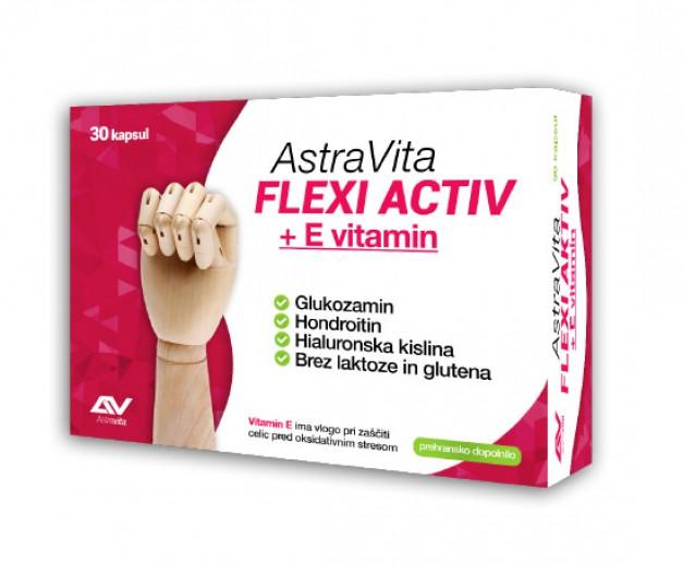 AstraVita, flexi activ + E, 30 kapsul