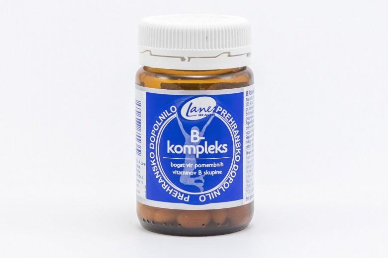 Lanes, prehransko dopolnilo vitamini B - kompleks, 100 kapsul