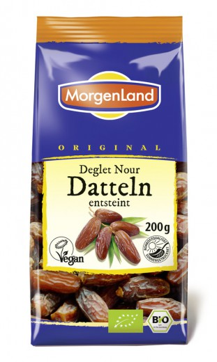 Datlji suhi razkoščičeni bio Morgenland, 200 g