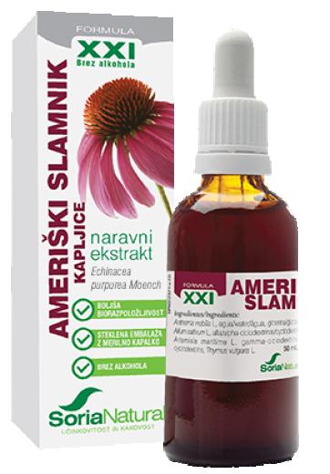 Soria Natural, ameriški slamnik XXI kapljice brez alkohola, 50 ml