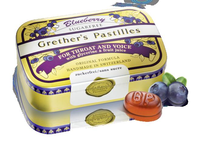 Grether's, pastile borovnica brez sladkorja, 110 g