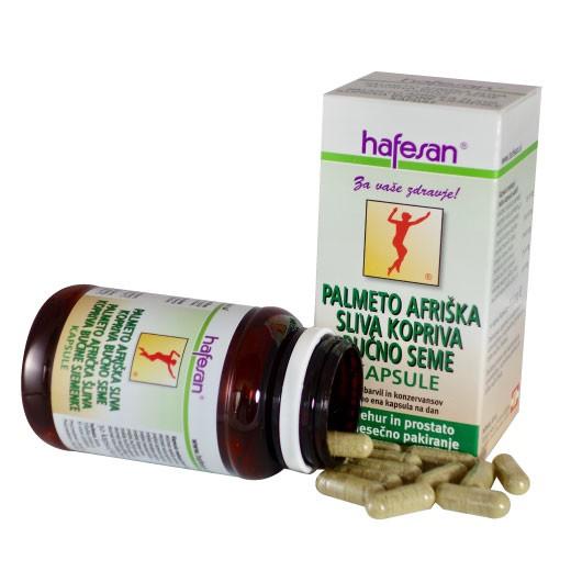 Hafesan, palmeto + afriška sliva + kopriva + bučno seme, 30 kapsul