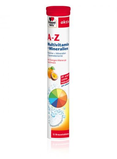 Doppelherz, aktiv A - Ž multivitamini, 15 šumečih tablet