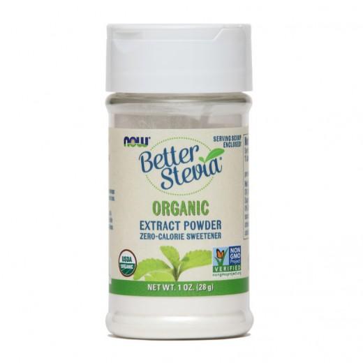 Stevia naravno sladilo v prahu Now, 28 g