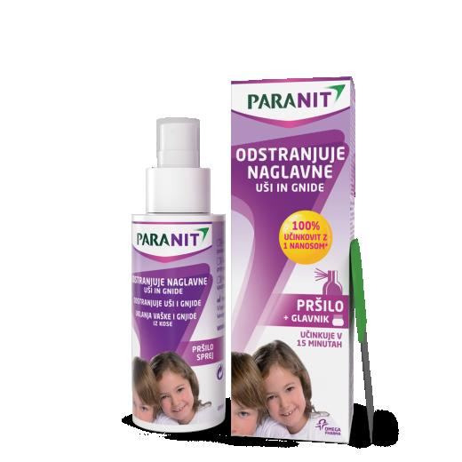 Paranit pršilo za odstranjevanje naglavnih uši in gnid, 100 ml + glavnik