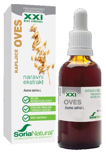 Soria Natural, oves XXI kapljice brez alkohola, 50 ml