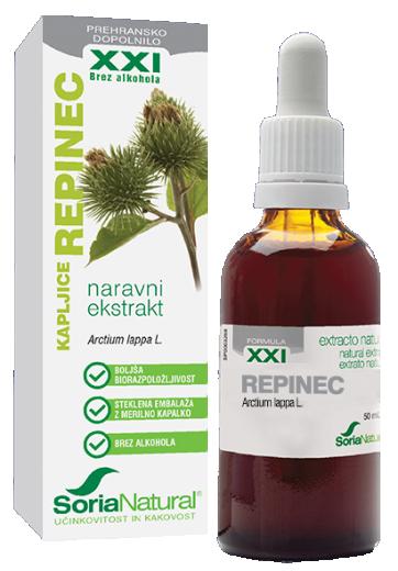 Soria Natural, repinec XXI kapljice brez alkohola, 50 ml