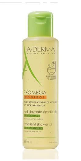 A-Derma Exomega Control Emolientno olje za tuširanje, 500 ml