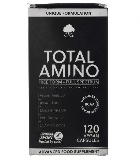 G&G Vitamins, total amino kompleks 20 aminokislin, 120 kapsul