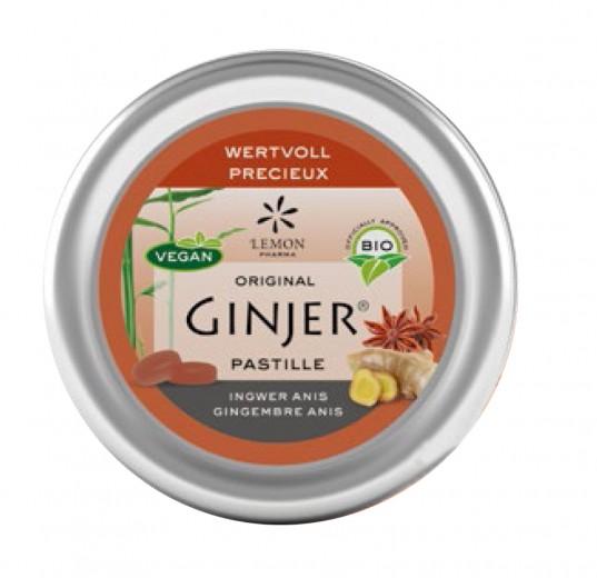 Pastile z ingverjem iz ekološkega soka akacije z okusom janeža, 40 g