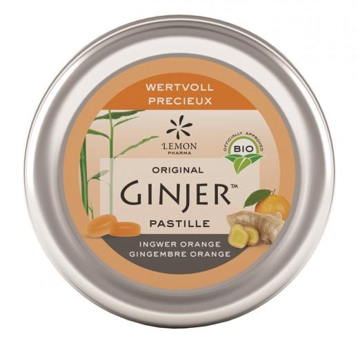 Pastile z ingverjem iz ekološkega soka akacije z okusom pomaranče, 40 g