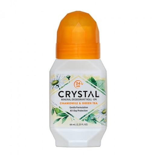 Crystal deodorant z vonjem kamilica z zelenim čajem (roll-on), 66 ml