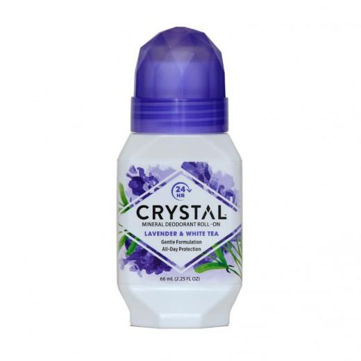 Crystal deodorant sivka z belim čajem (roll-on), 66 ml