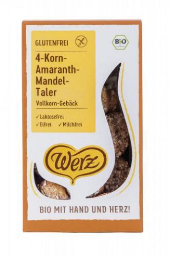 Bio 4-žitno amarantovo mandljevi tolarji Werz, 125 g