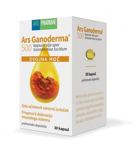 Ars Ganoderma 500 dvojna moč, 30 kapsul