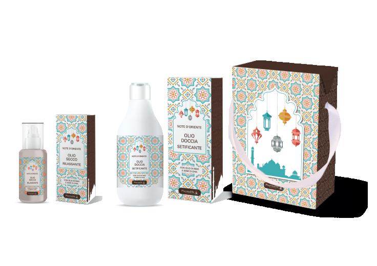 Darilni komplet ORIENTAL (olje za prhanje + suho olje)
