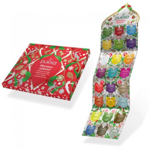 Božični-adventni koledar Pukka, 24 čajnih vrečk