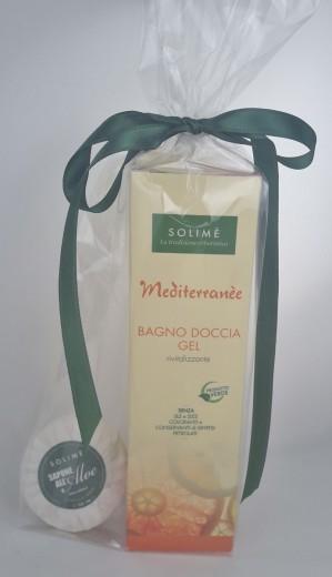 Darilo Mediterranee tuš gel 250 ml + milo Solime