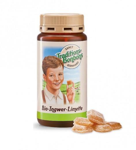 Bio Ingverjevi bonboni limeta, 170 g