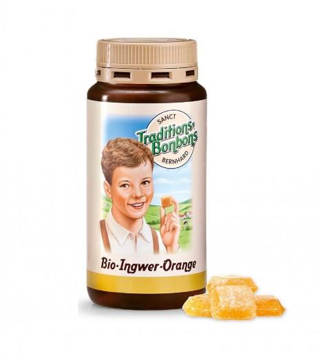 Bio Ingverjevi bonboni pomaranča, 170g