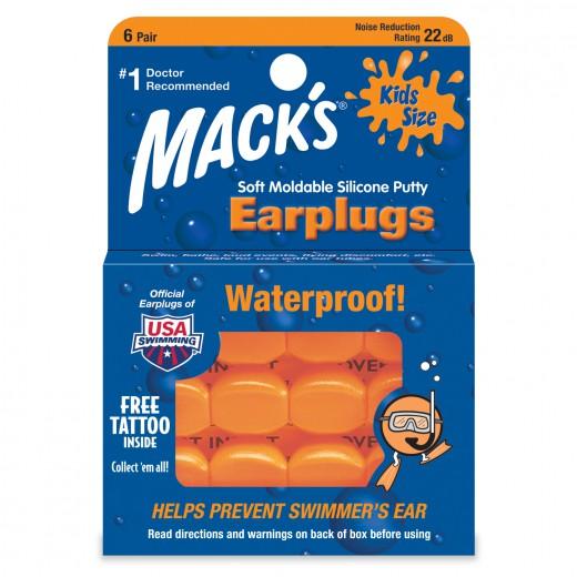 Mack's Pillow Soft - otroški silikonski ušesni zamaški