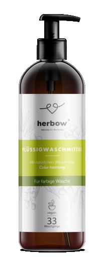 Tekoči detergent za pranje perila Color Harmony za barvno perilo Herbow, 1 L